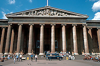 London: British Museum--Elevation, Iconic Colonnade and Portico. 1842-47, Sir Robert Smirks, after Schinkel's  Berlin Altes Museum.