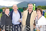 Hannah, John Martin, Vincent Keating and Josephine Keating Killarney at the Killarney Races on Monday.