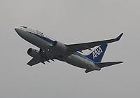 An All Nippon Airways Boeing 737-781 Registration JA05AN at Hong Kong Chek Lap Kok International Airport on 4.4.19 going to Nagoya Chubu Centrair International Airport, Japan.