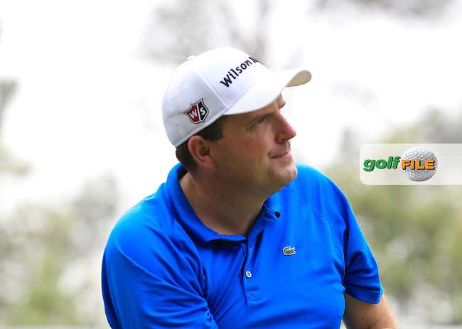 Anthony Wall (ENG) on the 14th tee during Round 1 of the Open de Espana  in Club de Golf el Prat, Barcelona on Thursday 14th May 2015.<br /> Picture:  Thos Caffrey / www.golffile.ie