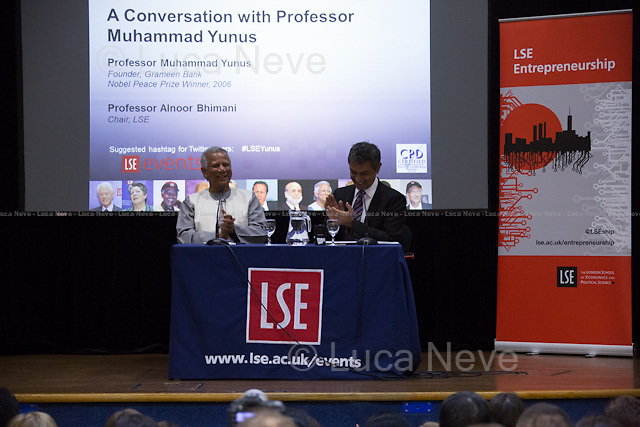 (From L to R) Muhammad Yunus &amp; Alnoor Bhimani.<br />