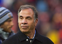 Former DC United Coach Bruce Arena. DC United defeated the LA Galaxy 1-0 with a stoppage time goal from Chris Pontius at RFK Stadium in Washington DC.