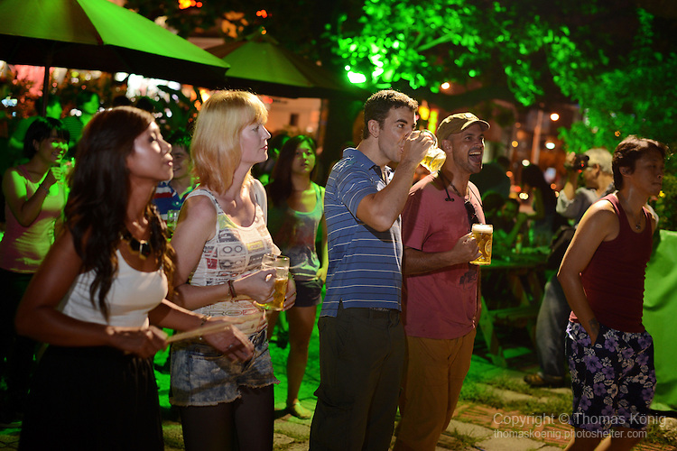 Kaohsiung, Taiwan -- Audience watching British Rock 'n' Roll band GOOBER GUN perform at the Brickyard Beer Garden on Aug. 17, 2013.