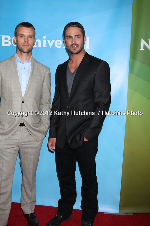 LOS ANGELES - JUL 24:  Jesse Spencer, Taylor Kinney arrives at the NBC TCA Summer 2012 Press Tour at Beverly Hilton Hotel on July 24, 2012 in Beverly Hills, CA
