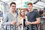 Enjoying Killarney Beerfest at the INEC, Killarney on Saturday evening last, were l-r: Conor Carlton, Amy Prior and Sean Downes.