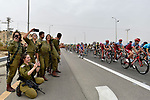 The peleton pass by during Stage 3 of the 101st edition of the Giro d'Italia 2018 running 229km flat stage from Be'er Sheva to Eilat is the last in Israel. 6th May 2018.<br /> Picture: LaPresse/Fabio Ferrari | Cyclefile<br /> <br /> <br /> All photos usage must carry mandatory copyright credit (&copy; Cyclefile | LaPresse/Fabio Ferrari)