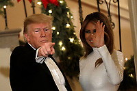 United States President Donald J. Trump and First Lady Melania Trump greet guests at the Congressional Ball at White House in Washington on December 15, 2018. <br /> Credit: Yuri Gripas / Pool via CNP / MediaPunch