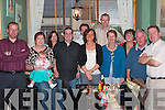 Carmel Kennelly, standing centre from Ballylongford, celebrated her birthday in Fitzgeralds restaurant Listowel on Friday night.  Also in the picture are  John and Teresa Kennelly, Julie Murphy, Bernie Kennelly, Ryan, Kate, Mary, Paddy, Alan Kennelly, Gus Sweeney and Colm Kennelly.......   Copyright Kerry's Eye 2008