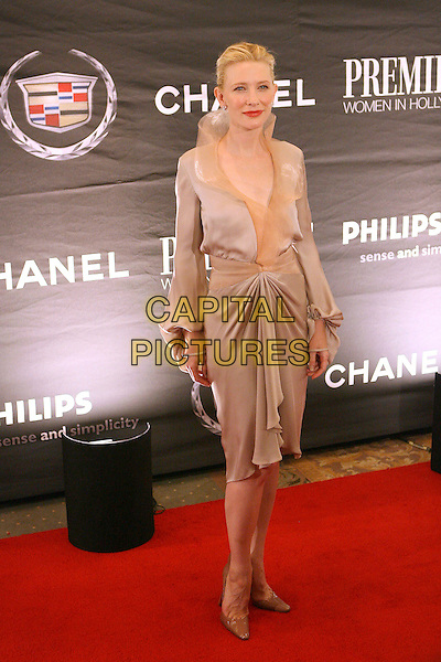 CATE BLANCHETT .The 13th Annual Premiere Women In Hollywood held at the Beverly Hills Hotel, Beverly Hills, California, USA..September 20th, 2006.Ref: ADM/ZL.full length dress beige collar .www.capitalpictures.com.sales@capitalpictures.com.©Zach Lipp/AdMedia/Capital Pictures.
