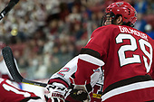 Alex Gilmour (SLU - 29) - The Harvard University Crimson defeated the St. Lawrence University Saints 6-3 (EN) to clinch the ECAC playoffs first seed and a share in the regular season championship on senior night, Saturday, February 25, 2017, at Bright-Landry Hockey Center in Boston, Massachusetts.