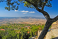View over the Tuscan countryside from Volterra, Siena, Italy. 200409190034.<br /> <br /> Copyright Image from Victor Patterson, 54 Dorchester Park, Belfast, UK, BT9 6RJ<br /> <br /> t1: +44 28 9066 1296<br /> t2: +44 28 9002 2446<br /> m: +44 7802 353836<br /> <br /> e1: victorpatterson@me.com<br /> e2: victorpatterson@gmail.com<br /> <br /> www.victorpatterson.com<br /> <br /> IMPORTANT: Please see my Terms and Conditions of Use at www.victorpatterson.com