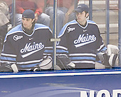 Matt Lundin, Ryan Shelley - The University of Wisconsin Badgers defeated the University of Maine Black Bears 5-2 in their 2006 Frozen Four Semi-Final meeting on Thursday, April 6, 2006, at the Bradley Center in Milwaukee, Wisconsin.  Wisconsin would go on to win the Title on April 8, 2006.