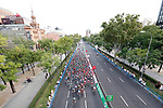 The peloton in action during the final Stage 21 of the La Vuelta 2018, running 100.9km for Alcorcon to Madrid, Spain. 16th September 2018.                   <br /> Picture: Unipublic/Photogomezsport | Cyclefile<br /> <br /> <br /> All photos usage must carry mandatory copyright credit (© Cyclefile | Unipublic/Photogomezsport)