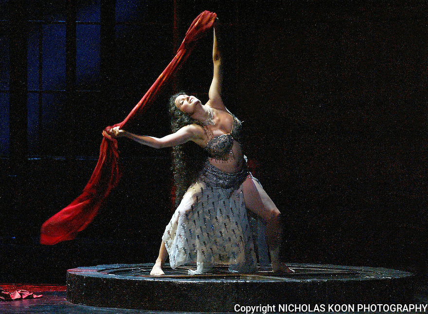 2003 - SALOME - Solome Dancer Erin Basta performs 'the Dance of the Seven Veils' in Opera Pacific's production of Salome.