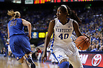 UK forward Brittany Henderson steals the ball during the first half of the women's basketball game v. Depaul University in Rupp Arena in Lexington, Ky., on Sunday, December 7, 2012. Photo by Genevieve Adams | Staff