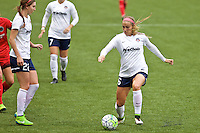 Portland, OR - Saturday, May 21, 2016: Washington Spirit defender Shelina Zardorsky (6). The Portland Thorns FC defeated the Washington Spirit 4-1 during a regular season National Women's Soccer League (NWSL) match at Providence Park.