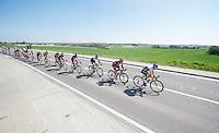 Adam Yates (GBR/Orica-GreenEDGE) pacing the peloton through the Brabant province<br /> <br /> Brabantse Pijl 2014