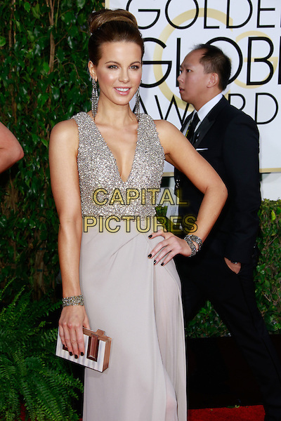 BEVERLY HILLS, CA - January 11: Kate Beckinsale at Golden Globes 2015 held at Beverly Hilton in Beverly Hills, California on January 11, 2015.  <br /> CAP/MPI/mpi500<br /> &copy;mpi500/MPI/Capital Pictures