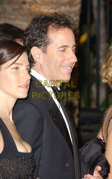 JESSICA SEINFELD & JERRY SEINFELD.The 2007 Vanity Fair Oscar Party Hosted by Graydon Carter held at Morton's, West Hollywood, California, USA, 25 February 2007..oscars half length black dress.CAP/ADM/GB.©Gary Boas/AdMedia/Capital Pictures.