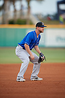 Biloxi Shuckers third baseman Bruce Caldwell (1) during a Southern League game against the Pensacola Blue Wahoos on May 3, 2019 at Admiral Fetterman Field in Pensacola, Florida.  Pensacola defeated Biloxi 10-8.  (Mike Janes/Four Seam Images)