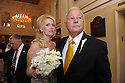 Trina Grimes Scott and former Governor Edwin Edwards greet the media after getting married in the French Quarter in New Orleans, La., Friday, July 29, 2011. Edwards was recently released from prison where he served eight years on corruption charges....(AP Photo/Cheryl Gerber)