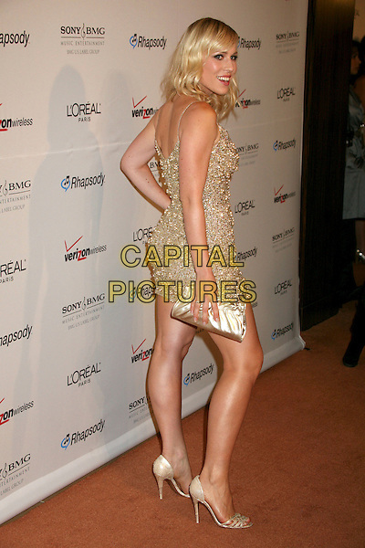 NATASHA BEDINGFIELD.Clive Davis 2007 Pre-Grammy Awards Party at the Beverly Hilton Hotel, Beverly Hills, USA..February 10th, 2007.full length silver gold jewel encrusted dress clutch purse .CAP/ADM/BP.©Byron Purvis/AdMedia/Capital Pictures