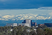 Irvine Business Complex with Santa Ana Mountains in the Background