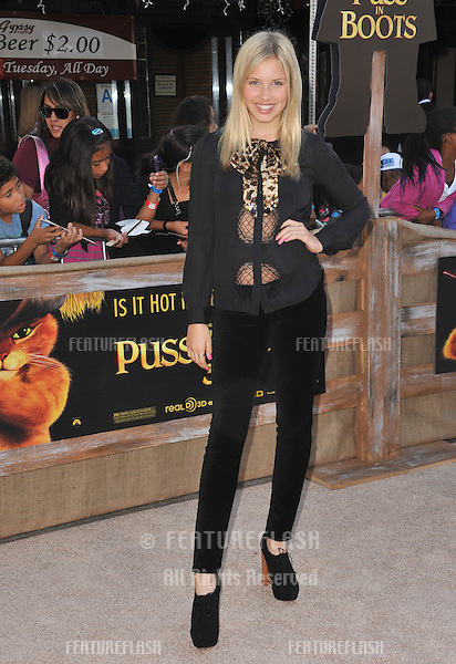 "Gracie Dzienny at the Los Angeles premiere of ""Puss in Boots"" at the Regency Village Theatre, Westwood..October 23, 2011  Los Angeles, CA.Picture: Paul Smith / Featureflash"