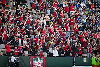 Seattle, WA - Saturday, August 26th, 2017: Portland Thorns FC fans during a regular season National Women's Soccer League (NWSL) match between the Seattle Reign FC and the Portland Thorns FC at Memorial Stadium.