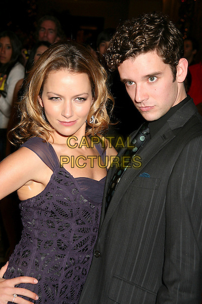 BECKI NEWTON & MICHAEL URIE.The 8th Annual Family Television Awards at the Beverly Hilton Hotel, Beverly Hills, California, USA..November 29th, 2006.half length purple dress black suit .CAP/ADM/BP.©Byron Purvis/AdMedia/Capital Pictures