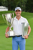 Justin Thomas (USA) holds the BMW Championship keeper trophy for winning the 2019 BMW Championship, Medinah Golf Club, Chicago, Illinois, USA. 8/18/2019.<br /> Picture Ken Murray / Golffile.ie<br /> <br /> All photo usage must carry mandatory copyright credit (© Golffile | Ken Murray)