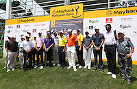 Players Matteo Manassero (ITA), Louis Oosthuizen (RSA), Thongchai Jaidee (THA) and Lee Westwood (ENG) took part in a Star Experience shooting competition and raised RM100,000 for charities during the preview days of the 2014 Maybank Malaysian Open at the Kuala Lumpur Golf & Country Club, Kuala Lumpur, Malaysia. Picture:  David Lloyd / www.golffile.ie
