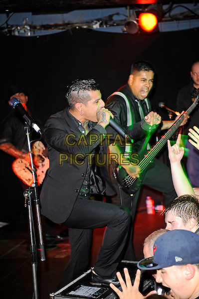 LONDON, ENGLAND - NOVEMBER 20: Danny Leal and Rey Martinez of 'Upon a Burning Body' performing at The Underworld, Camden on November 20, 2014 in London, England.<br /> CAP/MAR<br /> &copy; Martin Harris/Capital Pictures