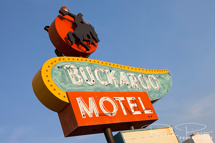 The Buckaroo Motel along Route 66 in Tucumcari, New Mexico.