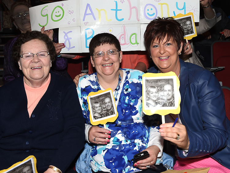 Mary and Philomena flanagan and Breda Geraghty pictured at Naomh Fionnbarra Strictly Come Dancing in the TLT. Photo:Colin Bell/pressphotos.ie