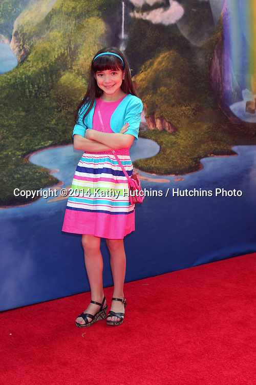 LOS ANGELES - MAR 22:  Chloe Noelle at the Pirate Fairy Movie Premiere at Walt Disney Studios Lot on March 22, 2014 in Burbank, CA