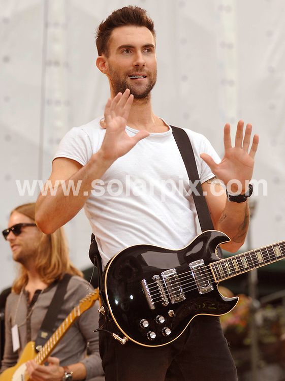 "**ALL ROUND PICTURES FROM SOLARPIX.COM**.**SYNDICATION RIGHTS FOR UK, SPAIN, PORTUGAL, AUSTRALIA, S.AFRICA & DUBAI (U.A.E) ONLY**.Maroon 5 Perform on ABC's ""Good Morning America Summer Concert Series"" at Bryant Park / New York City, NY, USA. 27th June 2008..JOB REF: 6752 PHZ/Mark Dye    DATE: 27_06_2008.**MUST CREDIT SOLARPIX.COM OR DOUBLE FEE WILL BE CHARGED* *UNDER NO CIRCUMSTANCES IS THIS IMAGE TO BE REPRODUCED FOR ANY ONLINE EDITION WITHOUT PRIOR PERMISSION*"