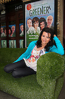 ***NO REPRODUCTION FEE***24/04/12 Cast members,  Deirdre O'Kane pictured at the Gaiety Theatre, Dublin this afternoon  to celebrate only one week to go until the world premiere of Fiona Looney's new play 'Greener' which opens at the Gaiety on May 1st and runs until May 26th. Greener features an all star cast of actors known on stage and screen...  Picture Colin Keegan, Collins, Dublin. ***NO REPRODUCTION FEE***