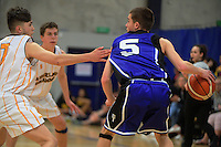 Jonny Joyce (St Pats) in action during the SAS Secondary Schools National Basketball Championships AA boys pool match between Auckland Grammar School and St Patrick's (Town) College at Arena Manawatu in Palmerston North, New Zealand on Wednesday, 28 September 2016. Photo: Dave Lintott / lintottphoto.co.nz