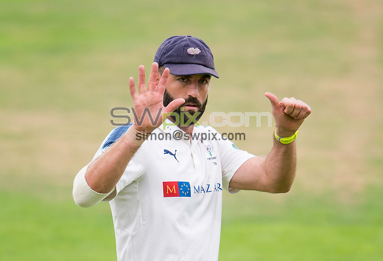 Picture by Allan McKenzie/SWpix.com - 07/09/2017 - Cricket - Specsavers County Championship - Yorkshire County Cricket Club v Middlesex County Cricket Club - Headingley Cricket Ground, Leeds, England - Yorkshire's Liam Plunkett.