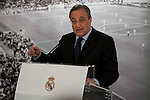 Real Madrid president Florentino Perez , offers extraordinary press conference for the media at Santiago Bernabeu Stadium in Madrid, November 23, 2015<br /> (ALTERPHOTOS/BorjaB.Hojas)