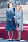 Queen Letizia of Spain and and Ana Pastor receive president of Portugal Marcelo Rebelo de Sousa at the Royal Palace in Madrid, Spain. April 16, 2018. (ALTERPHOTOS/Borja B.Hojas)