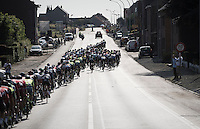 the peloton snakes itself forward at high speed<br /> <br /> 12th Eneco Tour 2016 (UCI World Tour)<br /> Stage 7: Bornem › Geraardsbergen (198km)