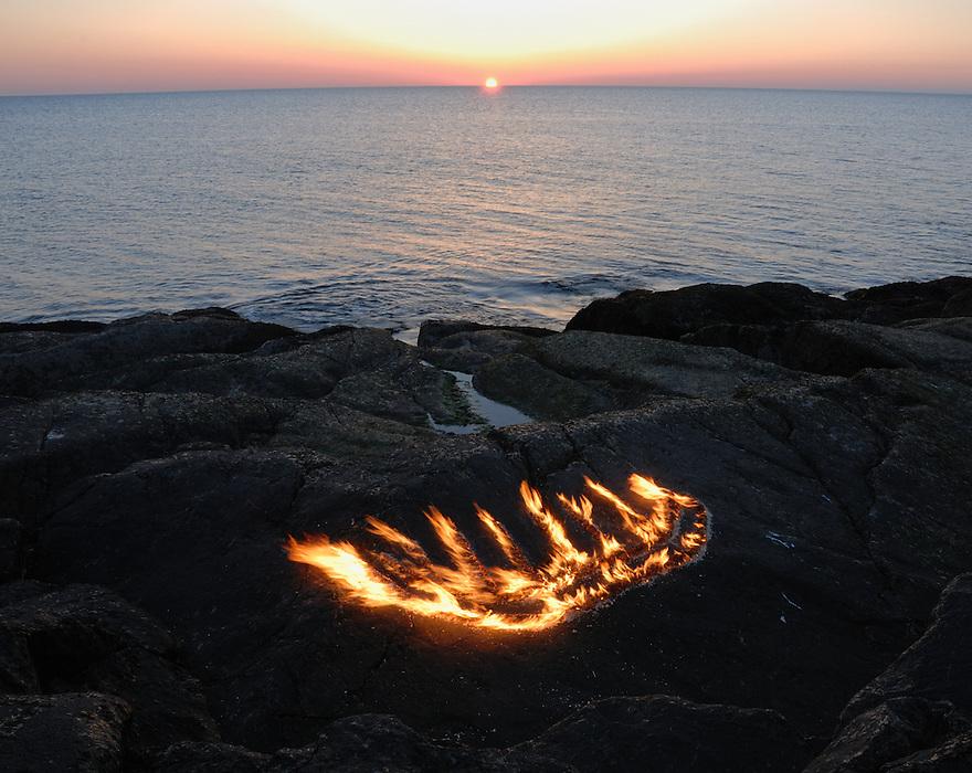 Burning rock,Norway