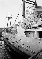 Scheepswerf Beliard Murdoch in Antwerpen.  April 1963.