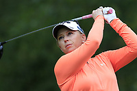 Morgan Pressel (USA) tees off the 13th tee during Thursday's Round 1 of The Evian Championship 2018, held at the Evian Resort Golf Club, Evian-les-Bains, France. 13th September 2018.<br /> Picture: Eoin Clarke | Golffile<br /> <br /> <br /> All photos usage must carry mandatory copyright credit (© Golffile | Eoin Clarke)
