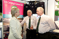 NO FEE PICTURES.28/1/11 Minister Mary Hanafin at the Irish Camping and Caravan Club stand at the launch of the Holiday World Show at the RDS, Dublin, which runs from Friday 28th untill Sunday 30th January. Picture: Arthur Carron/Collins