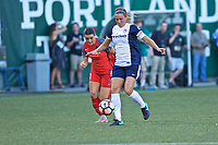 Portland, OR - Saturday July 22, 2017: Shelina Zadorsky, Hayley Raso during a regular season National Women's Soccer League (NWSL) match between the Portland Thorns FC and the Washington Spirit at Providence Park.