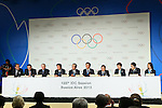 SEPTEMBER 7, 2013 : <br /> A press conference after Tokyo was announced as the winning city bid for the 2020 Summer Olympic Games at the 125th International Olympic Committee (IOC) session in Buenos Aires Argentina, on Saturday September 7, 2013. (Photo by YUTAKA/AFLO SPORT) [1040]
