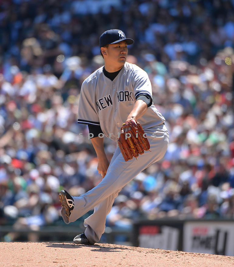 New York Yankees Masahiro Tanaka (19) during a game against the Chicago White Sox on May 24, 2014 at US Cellular Field in Chicago, IL. The White Sox beat the Yankees 4-3.